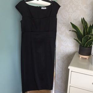 Black satin dress elegant and classy